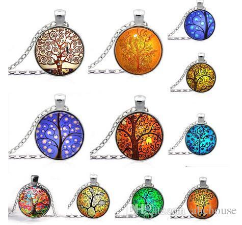 Baum des Lebens Halskette Anhänger Schmuckkunst und der Gedanke des Baums Silber Familie Weihnachtsart Charme Schmuck Geschenk Freies Verschiffen
