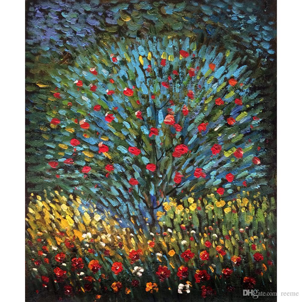 Gustav Klimt Garden arts Apple Tree oil painting reproduction canvas hand-painted home decor