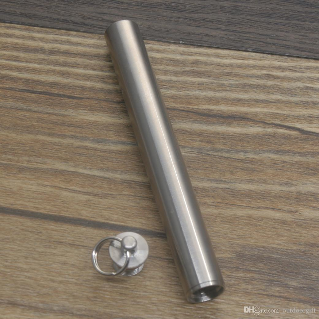 Portable Titanium Alloy Waterproof Toothpick Outdoor Traveling Tool Silver new.