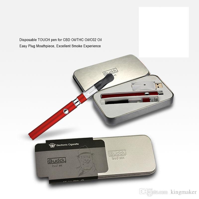 Portátil bud dex 350 mah caneta vape dispositivo de fumar eletrônico magro Grosso caneta vaporizador de óleo com Bud button bateria CE3 0.6 ml tanque de cera
