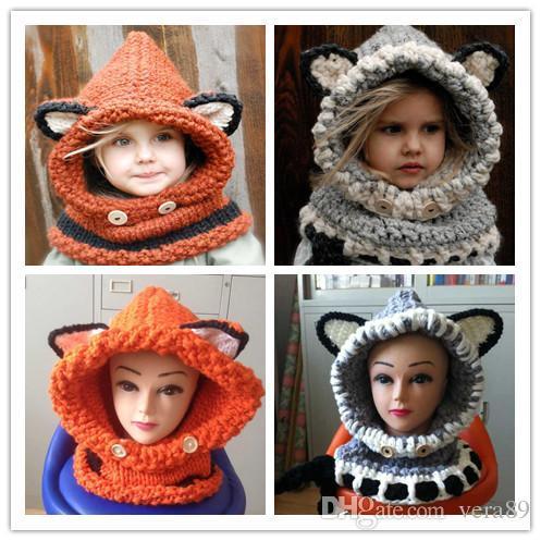 Großhandel Lovely Fashion Fuchs Katze Ohr Winter Winddichte Hüte Und ...