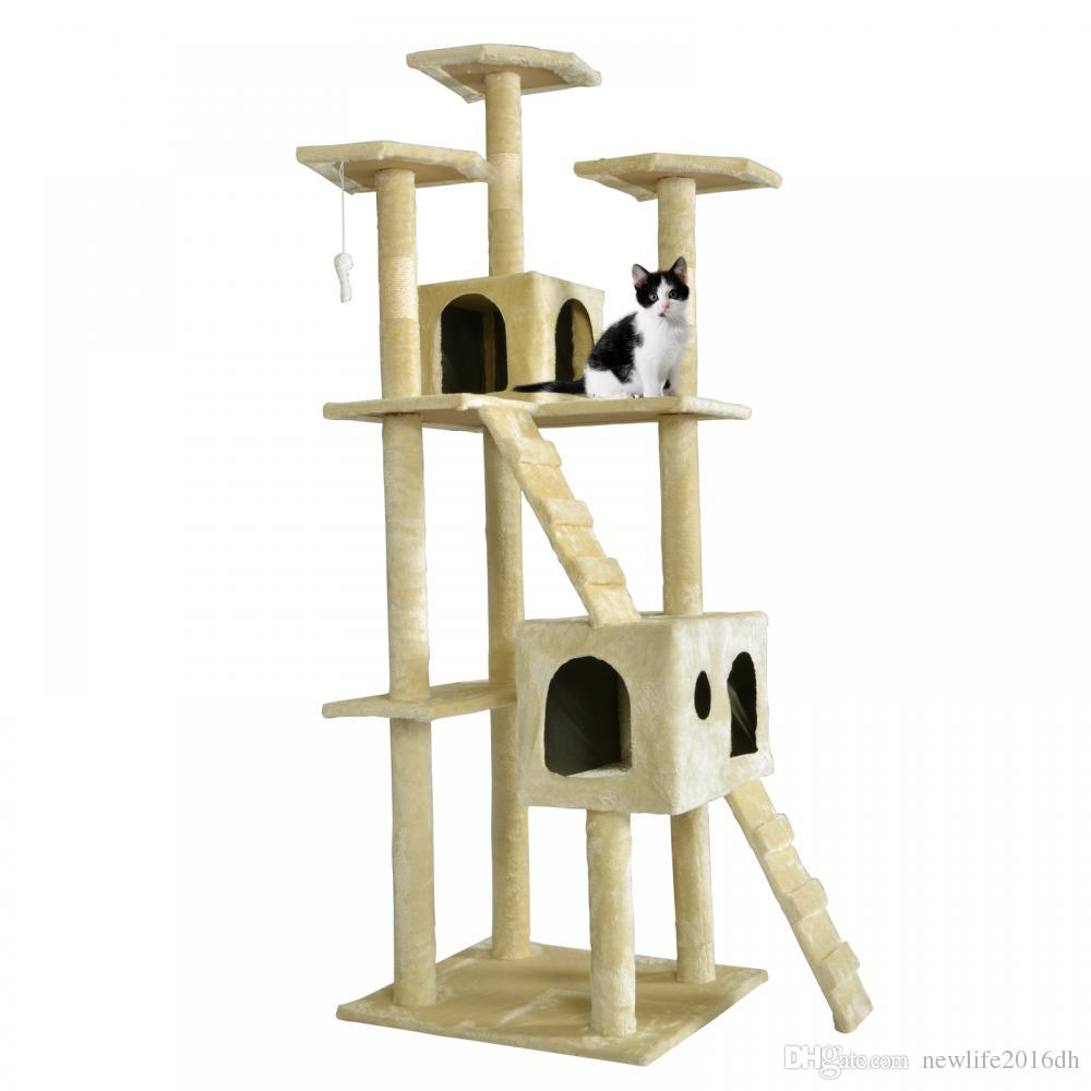 All Color Cat Tree Scratcher Play House Condo Furniture Bed Post Pet House