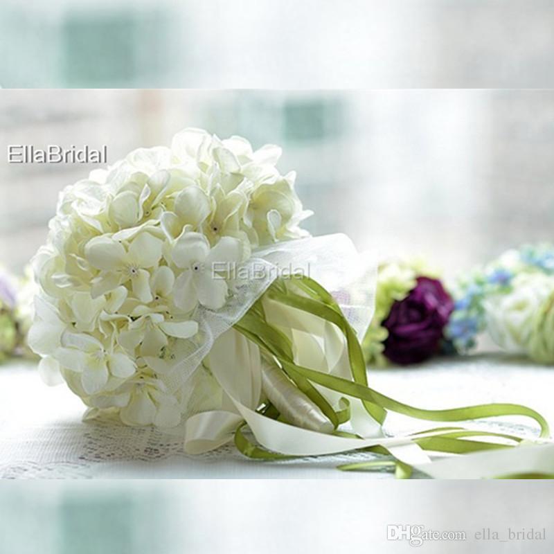 Bouquet Sposa Avorio.Acquista Ellabridal Alta Qualita Tessuto Avorio Bouquet Di Fiori