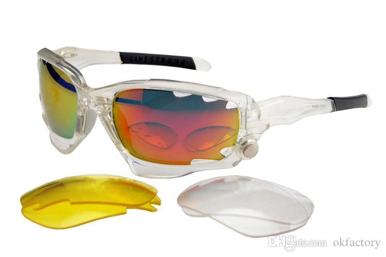 100% Новый солнцезащитные очки велосипед Велоспорт очки Очки Спорт UV400 солнцезащитные очки 3 линзы очки