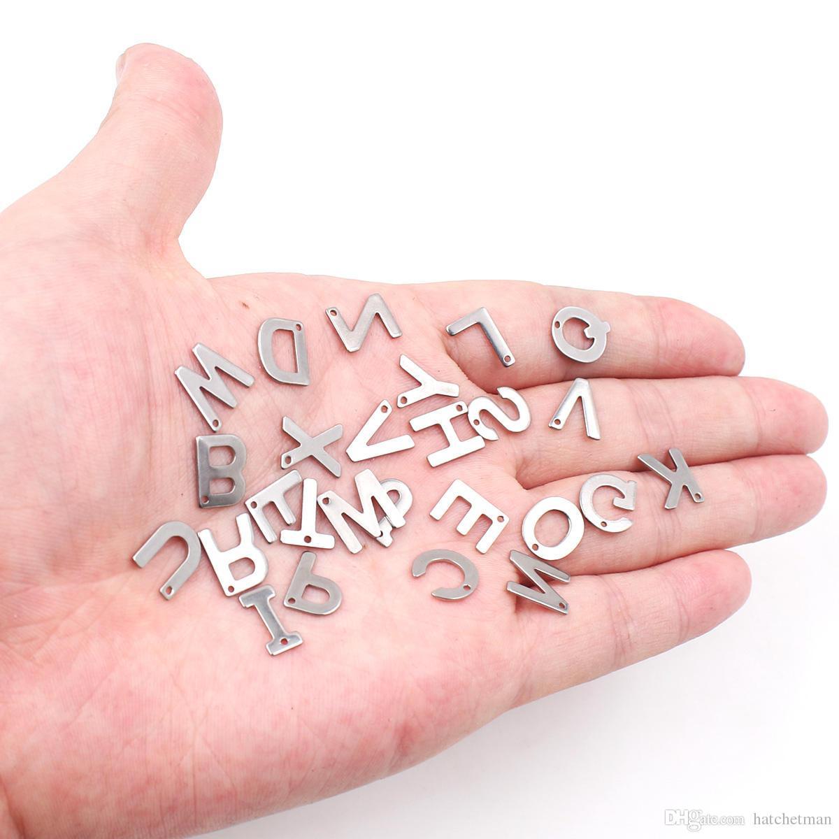 A-Z acciaio inossidabile lettera 26pcs / lot piccolo ciondolo fai da te accessori all'ingrosso strumento ETSY