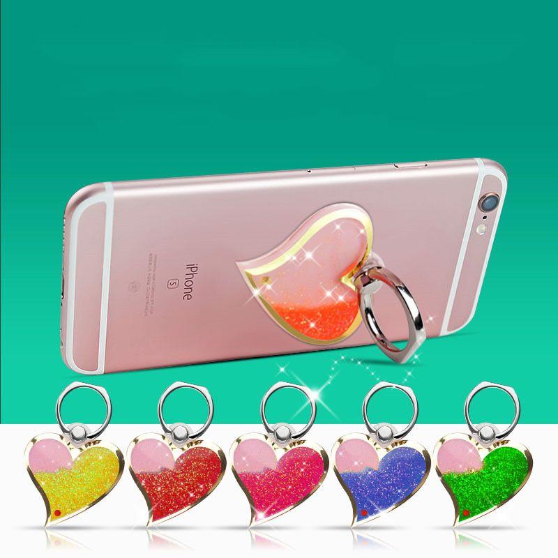 Smartphone Support Le Modèle Universel De Sables Mouvants En 3d En Forme De Coeur Universel Pour Téléphone Portable Titulaire De Téléphone Portable