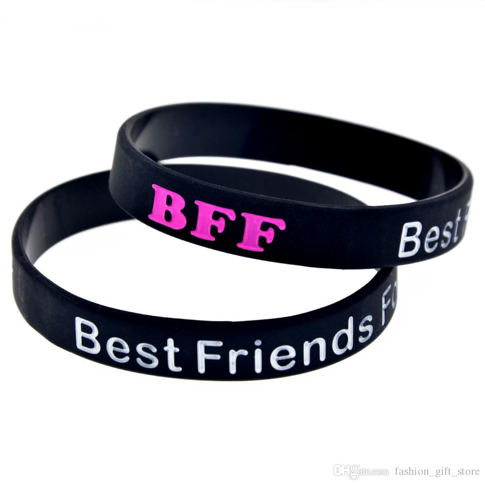 1PC Best Friends Forever Silicone Bracelet Great To Used In Any Benefits Gift For Music Fans