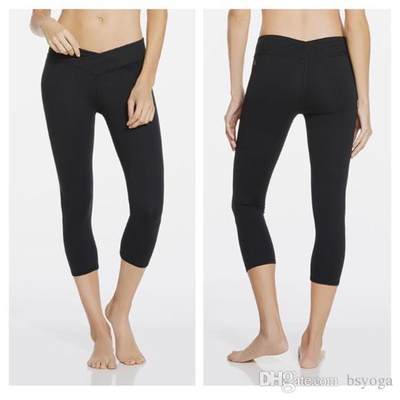 العلامة التجارية الجديدة BS YOGA منتصف صعود كابري الأسود المرأة اللباس الداخلي اللياقة البدنية السراويل الرياضية
