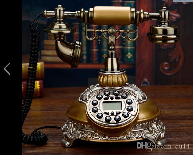 Decoration Arts crafts Factory direct dial code rotation retro creative European Telephones Landline Phone