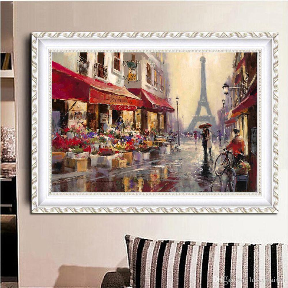 Acquista Tour Eiffel Paesaggio DIY Dipinti Di Diamanti Quadri Moderni  L\'immagine La Decorazione Del Soggiorno Senza Cornice A $11.95 Dal  Luckymaison | ...