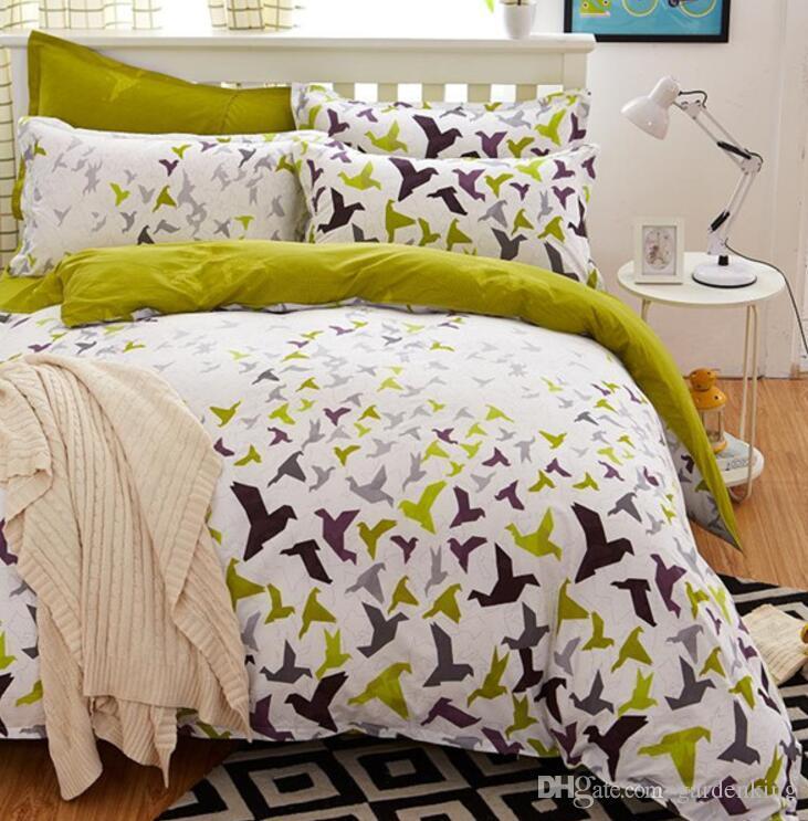 Oiseaux literie Blooms ensemble fleur Linge de lit 4pcs / set 5 taille housse de couette de Lit Pastoral enfants / adultes literie bedcloth