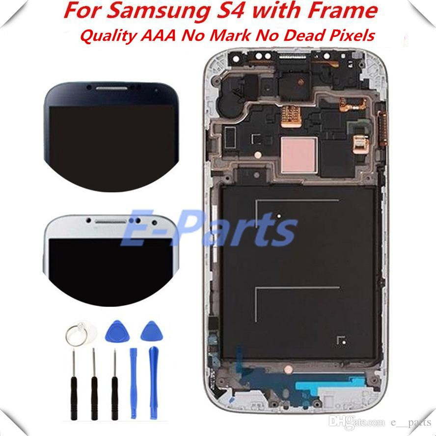 1Pcs For Samsung Galaxy S4 I337 I545 I9500 I9502 I9505 E300K E300S LCD Display Touch Screen Digitizer with Frame Assembly & Open Tools
