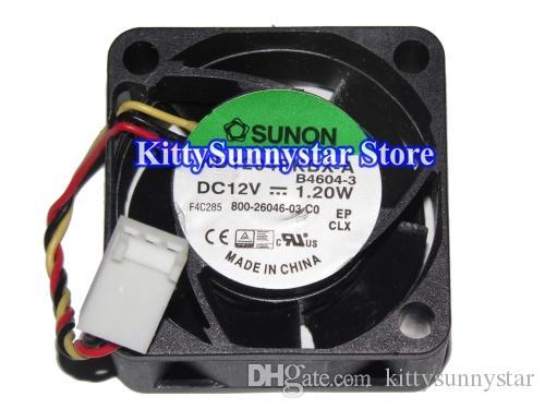 Neues ursprüngliches 4cm KD1204PKBX-A B4604-3 12V 1.2W 3Wire 800-26046-03 Sunon Ventilator, KD1204PKV2 12V 0.8W 3Wire DC-Ventilator