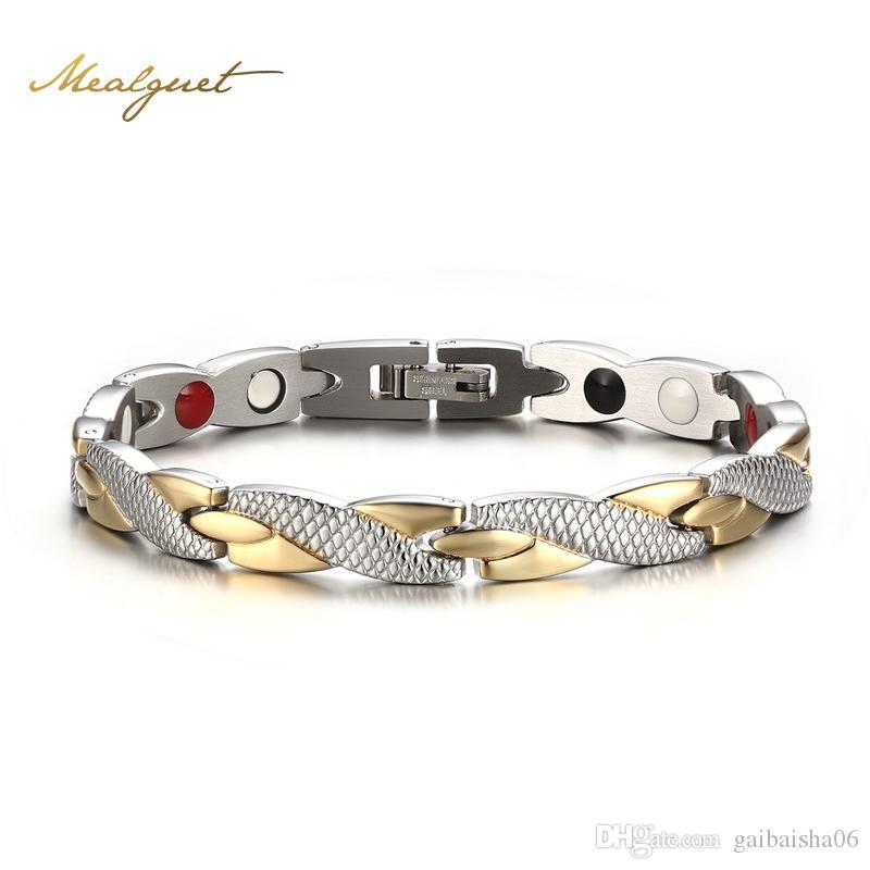 Браслеты из виргированных магнитных браслетов браслетов из нержавеющей стали 316L повседневные украшения H силовой браслет для женщин мужчин