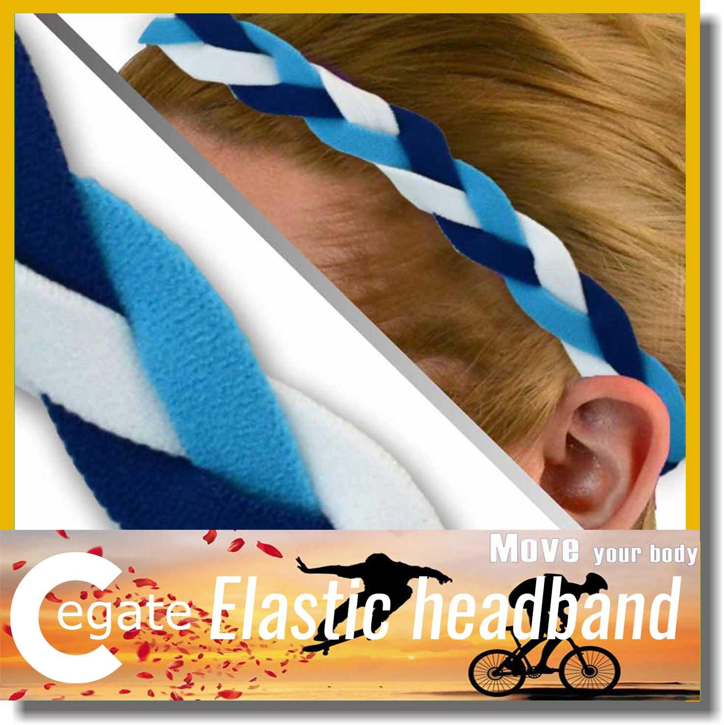 Wholesale new non slip headband different colored elastic weave braided headbands free shipping