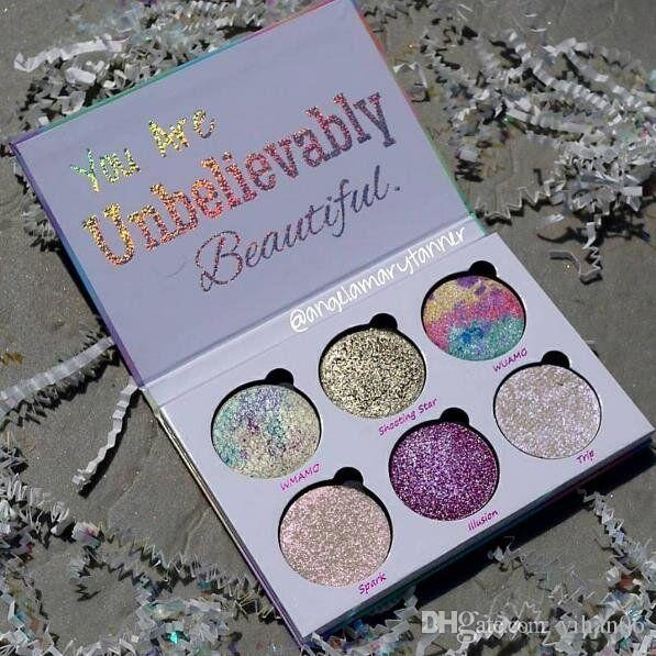 Top quality with best price !Love Luxe Beauty Fantasy Palette Makeup You Are Unbelievably Beautiful highlighters Eyeshadow 6 Colors free DHL