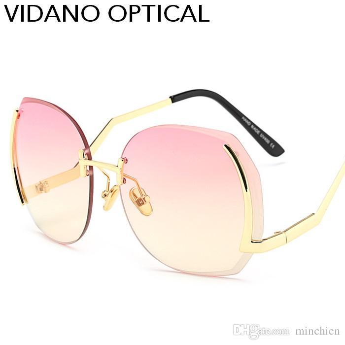 Vidano Optical Diamond Cut Occhiali da sole rotondi per uomo Donna Luxury Fashion Occhiali da sole Occhiali da sole senza montatura per occhiali Unisex Eyewear UV400