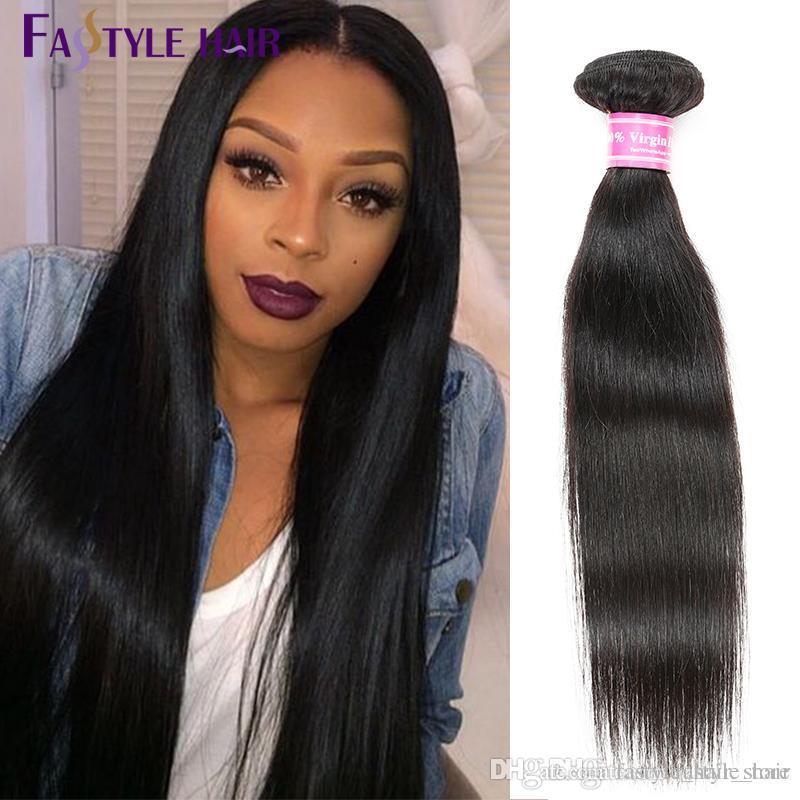 Wholesale Brazilian Virgin Straight Human Hair Weave Bundles 100% Unprocessed Virgin Human Hair 4 Bundles Remy Hair Extensions