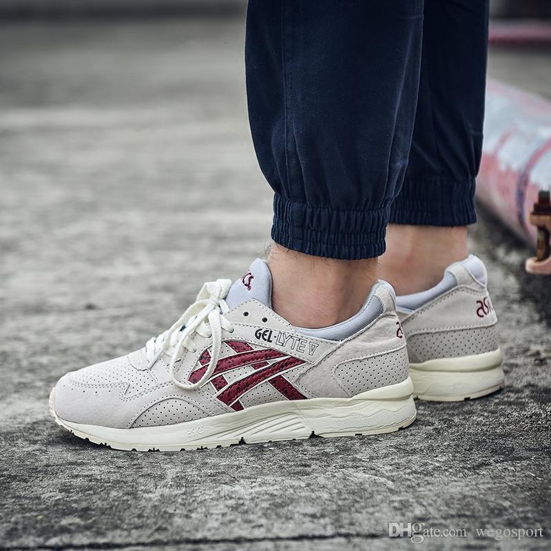 2019 2019 Asics Gel Lyte V Men Women Running Shoes H5U1N 9001 H60RK 1189 Multicolor Online Boots Designer Sneakers Sport Shoes From Wegosport, $69.04
