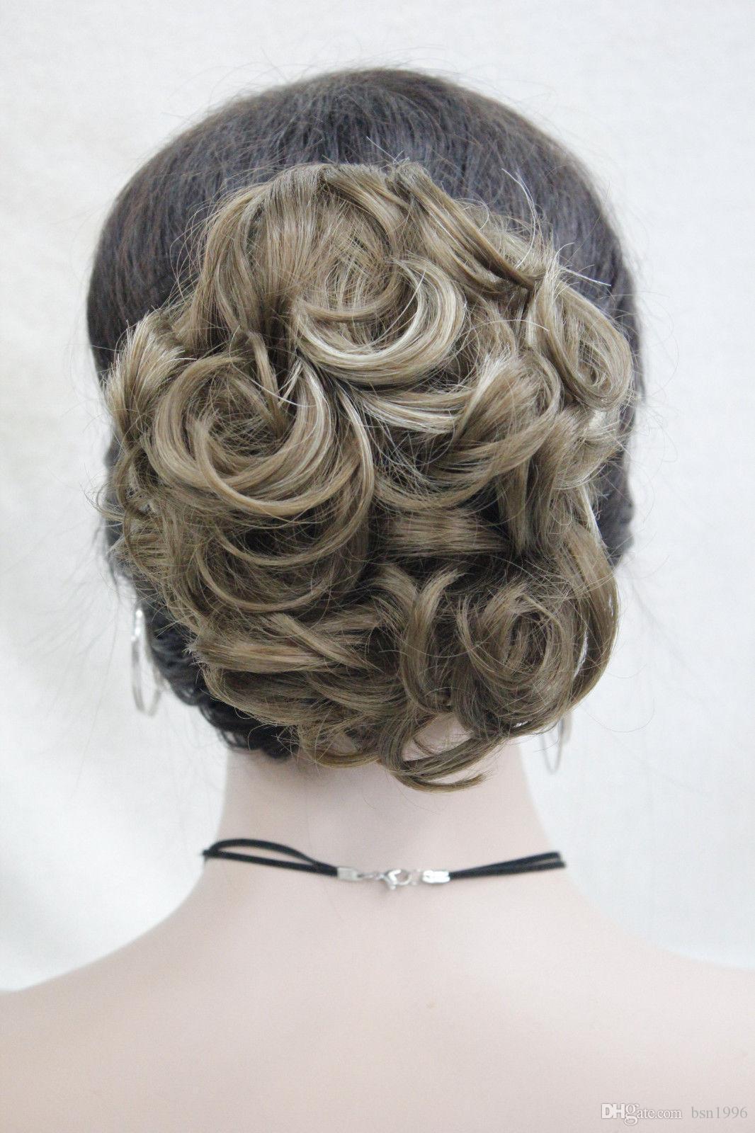 Envío libre hermosa moda Hivision corto sintético Ondulado pelo de la cola de caballo extensión Hairpiece 11 color select