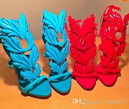 Vendita calda Scarpe da donna Designer di marca Tacchi alti Sandali Tagliati Scarpe da passeggio Open Toe Runway per donna Sandali gladiatore
