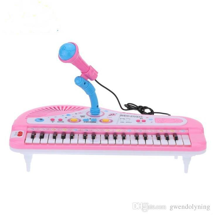 Kids Children/'s 37 Keys Mini Electronic Keyboard w// Microphone Musical Toy