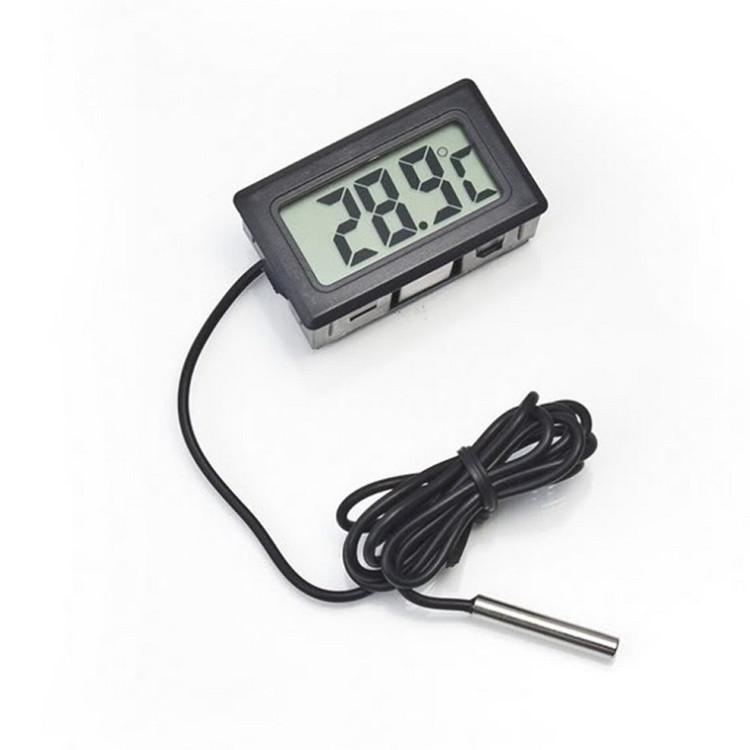 Atacado incorporado termômetro digital eletrônico FY-10 termômetro digital geladeira preta
