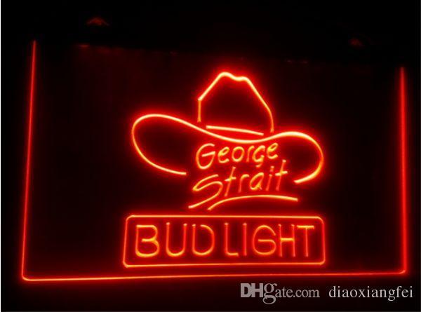 tr10 бутон свет Джордж пролив пивной бар 3D знаки culb паб LED неоновый свет знак домашнего декора ремесла