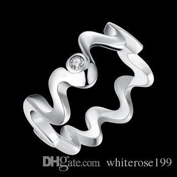 Partihandel - Retail Lägsta pris Julklapp, Gratis frakt, Ny 925 Silver Fashion Ring Yr029