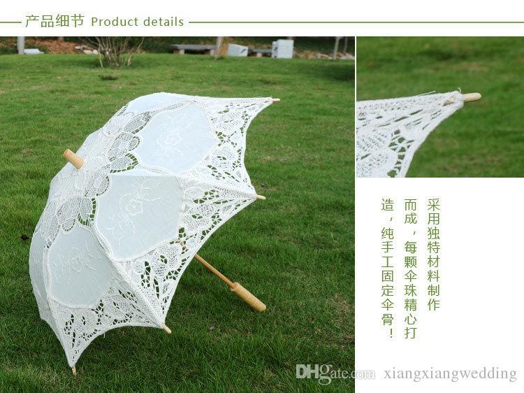 Vintage Wedding supplies/_6  pieces vintage lace parasol favors/_SHIPS FREE