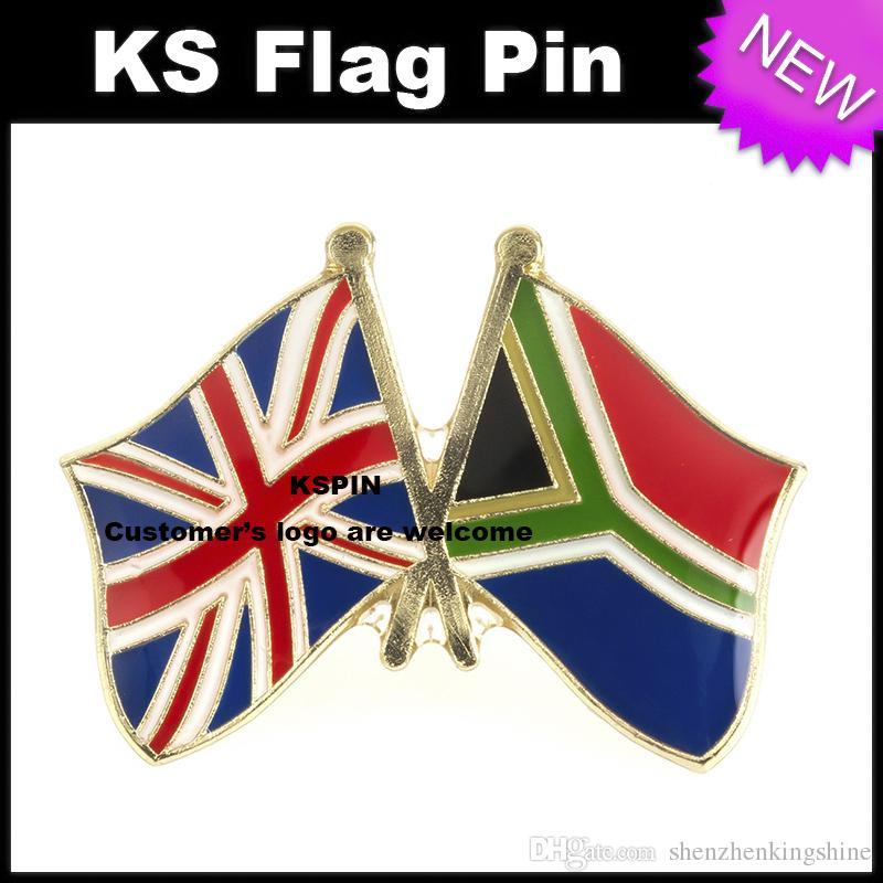 Distintivo 10pcs della bandiera del distintivo della bandiera del Sud Africa di amicizia del Regno Unito molto Spedizione gratuita XY0057