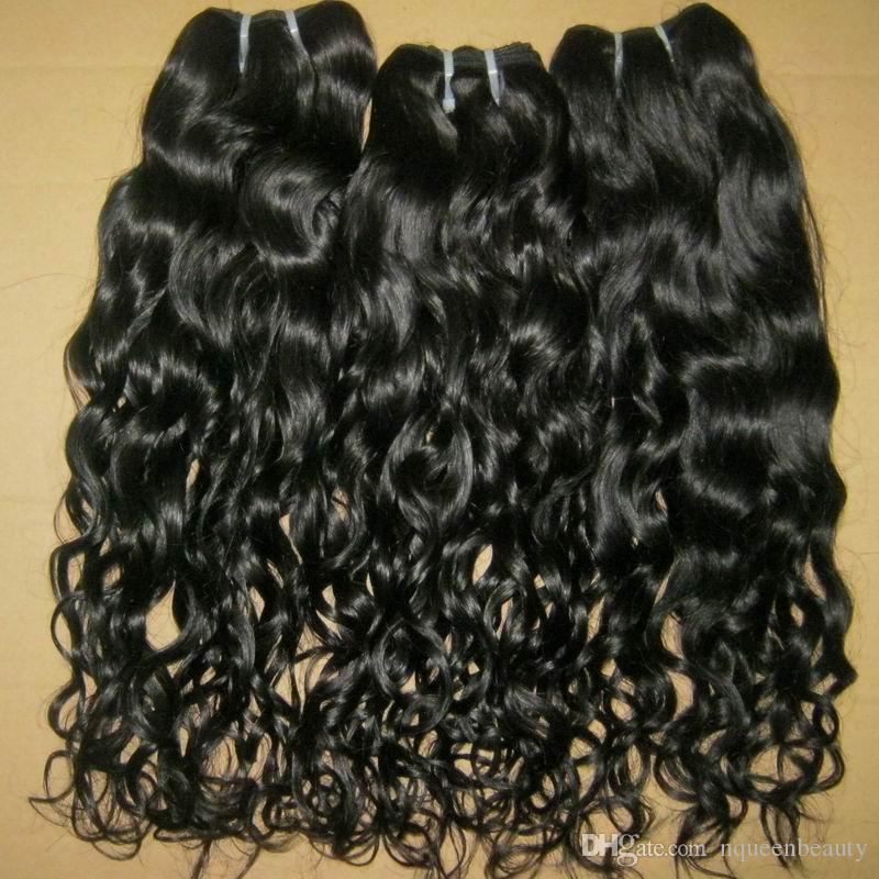أزياء المرأة 3 قطع 100٪ عذراء البرازيلي المياه موجة شعر الإنسان لحمة اللون الطبيعي