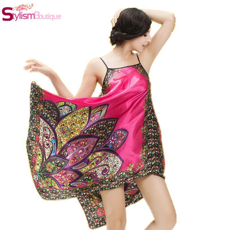 Wholesale- 2016 Hot Women Summer Style Sleeveless Nightie Dress Robe Home Clothes Female Nightgown Sleepwear Camis Nightwear Sarafan