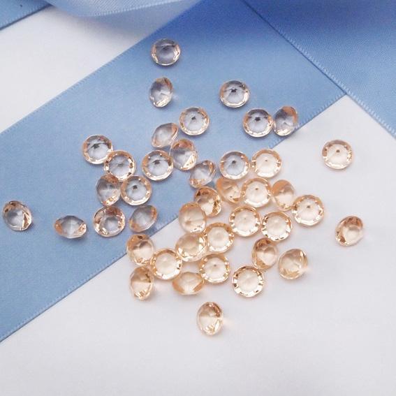 14 Colori pick - Liquidazione Vendita 5000pcs 6.5mm (1 Carati) Diamond Confetti Perle acriliche Tabella Scatter Centrotavola Vasi Fillers Wedding Decor