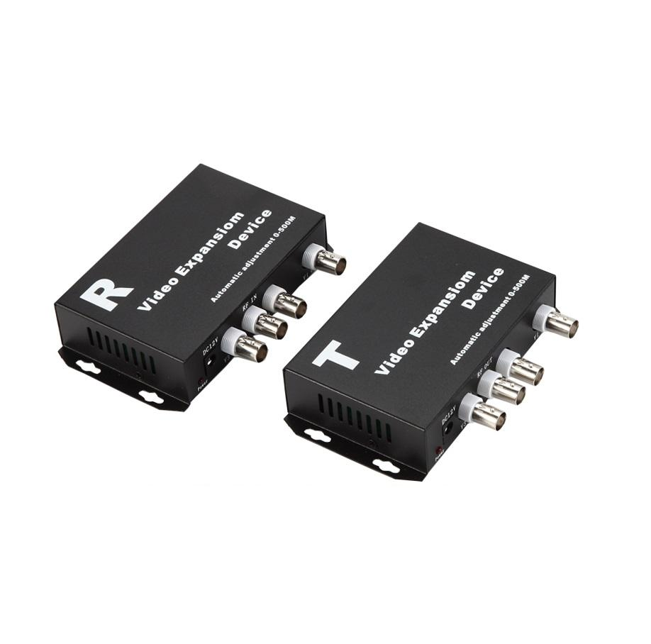 Haute qualité jusqu'à 500 m de transmission de télévision en circuit fermé Transmetteur vidéo 3CH vidéo multiplexeur pour système de sécurité