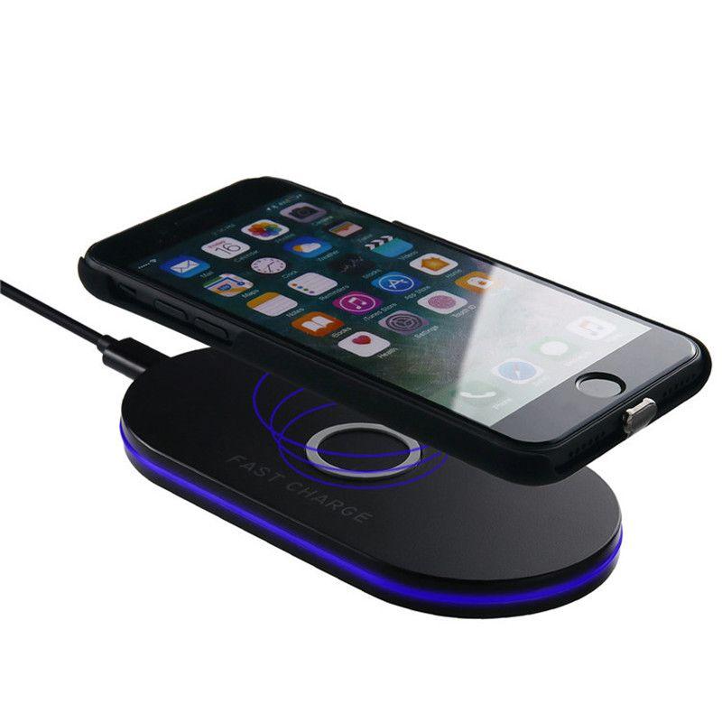 Qi Q100 Wireless Schnellladeschale Wireless Handy-Ladegerät mit LED-Anzeige Für iPhone und Samsung mit Kleinkasten