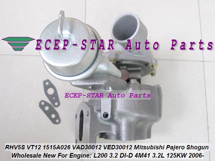 Turbo RHV5 RHV5S 1515A026 VT12 VT 12 VAD30012 VED30012 For Mitsubishi  Pajero V80 V90 Shogun L200 3 2 DI D 2006 4M41 3 2L 125KW Turbonetics