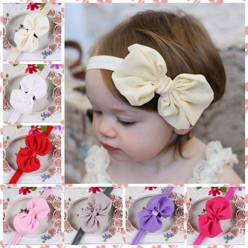 10 couleur mixte enfants filles bébé enfant en bas âge fleur bandeau cheveux arc bande accessoires cheveux bande arc accessoires hj049