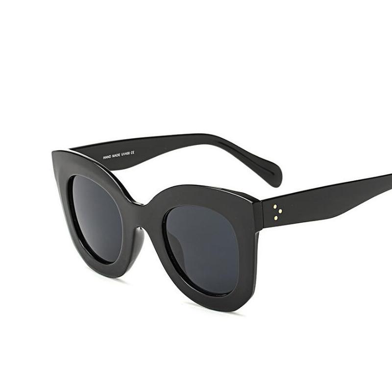 Moda Occhiali da sole Donne popolari Designer di marca Occhiali da sole di lusso Lady Estate Stile Occhiali da sole Femminile Rivet Shades m514