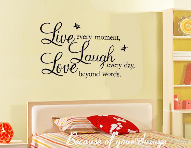 Removable Diy Live Laugh Love Vinyl Wall Art Sticker Inspirational ...