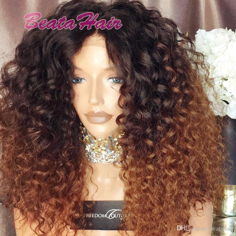 2017 nouvelle arrivée 150% densité deux tons couleur perruque de cheveux humains # 1b / # 30 ombre avant de lacet perruque vierge brésilienne pleine perruque de lacet
