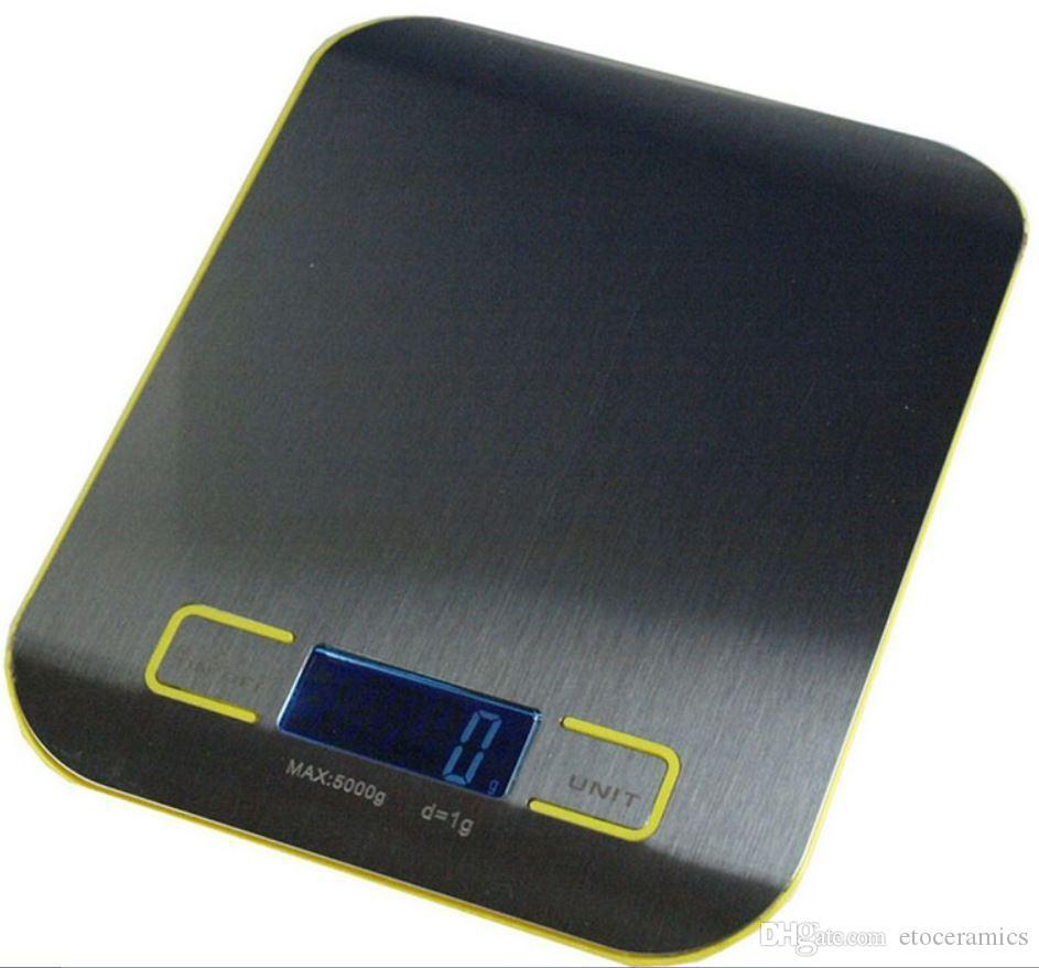 Großhandel Küchenwaage Hochwertige Digitale Nahrungsmitteldiät Balance  Küche Gewicht Digitalwaage Mit Edelstahl Plattform 188g / 18g Schnelle