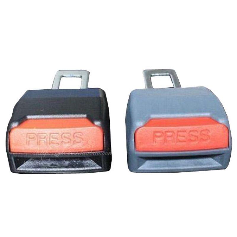 2 Pcs Preto Ou Cinza Ajustável Cinto de Segurança Cinto de Segurança Do Carro Universal Clip Extensão M00010 VPWR