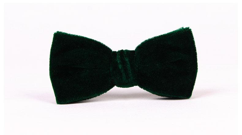 5edc888abb62 TIESET Clip Ons Blackish Green Velvet Bow Tie For Gentleman Party ...
