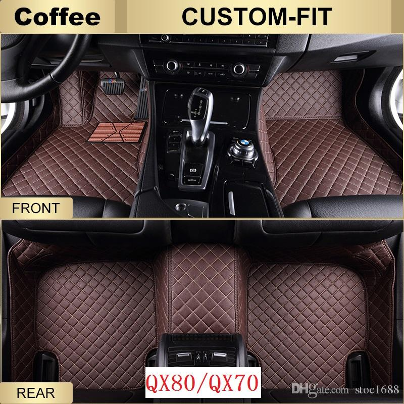 SCOT All Weather Leather Car Floor Mats for Infiiniti QX70 Waterproof Anti-slip 3D Front & Rear Carpet Custom-Fit Right-Hand-Driver-Model