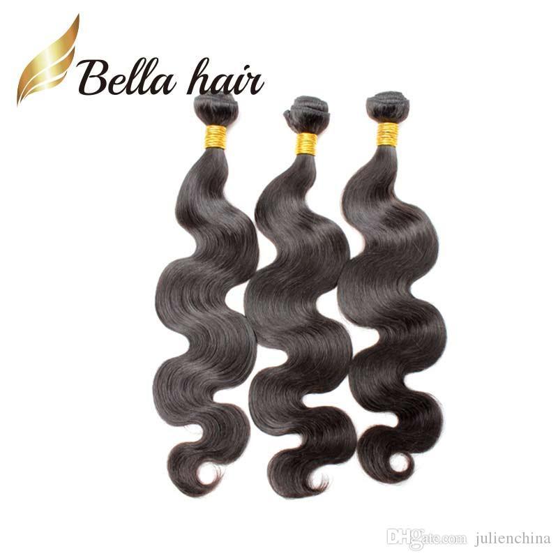 Bella hair ® 9a Königin Hair Bündel 100% malaysischer menschliches haarverlängerung natürliche farbe körper wellen wellenförmige haar schuss
