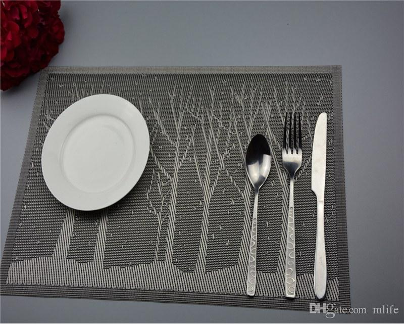 cartoon dinner placemats pvc place table mats forest tree tableware dinnerware lovely kitchen table pads tools - Kitchen Table Mats