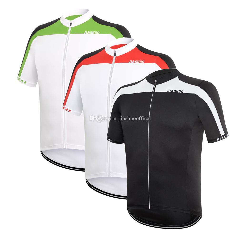 Personalizzato NUOVO 2017 Nero / Verde / Rosso JIASHUO mtb road RACING Team Bike Pro Cycling Jersey / Camicie Top Abbigliamento Respirazione Air 3 sceglie