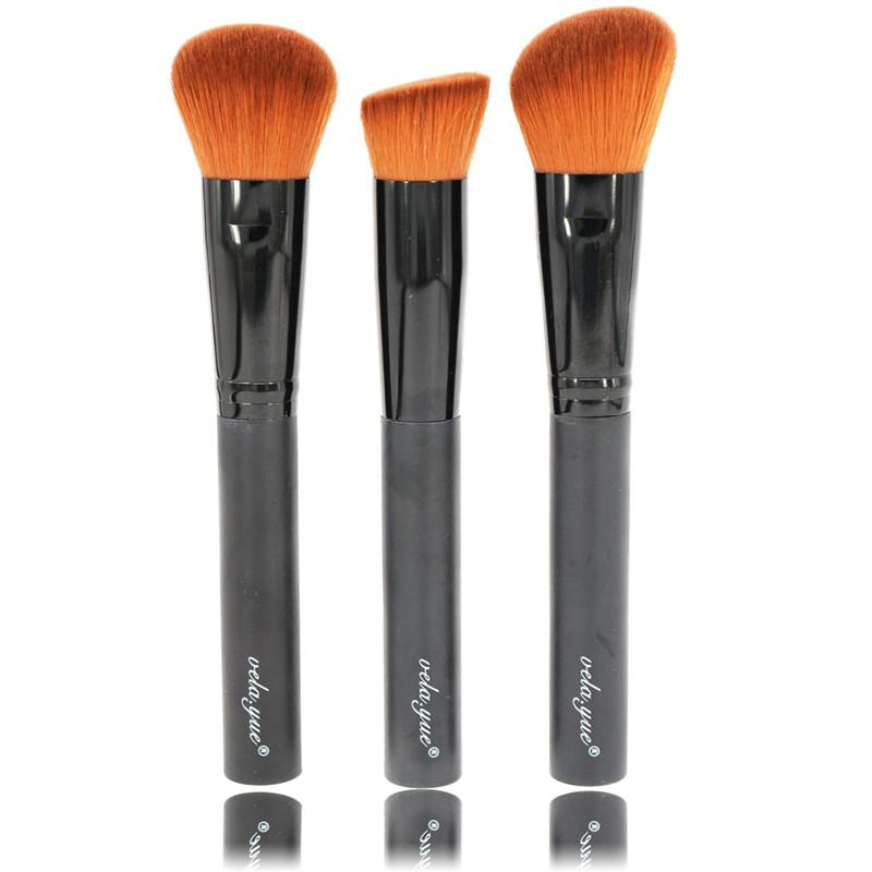Maquillaje Profesional Juego de Cepillos 3ps Maquillaje Facial Multiuso Cepillo En Polvo Base Primer Blush Líquido Crema Cosmética Kit de Herramientas de Belleza