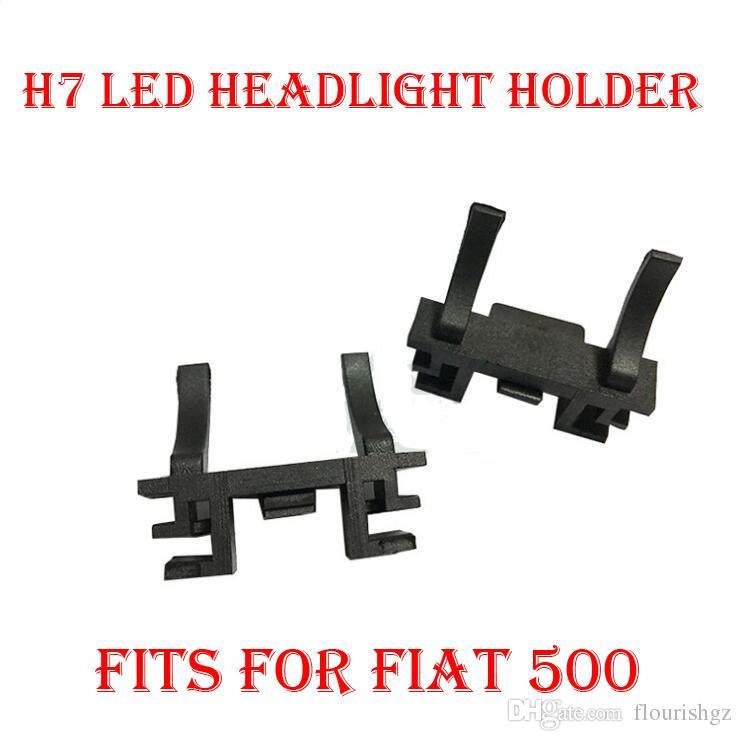2шт H7 светодиодный фары набор преобразования лампа держатель база адаптер держатель гнездо зажим для Фиат 500 Форд Фокус 2017 ближнего света Ленд Ровер обнаружить